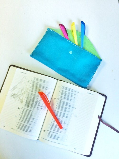 Bible Journaling Pencil Pouch