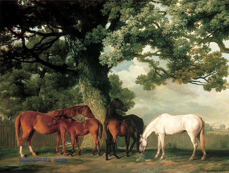 Pimpernel Grazing Horses Placemats