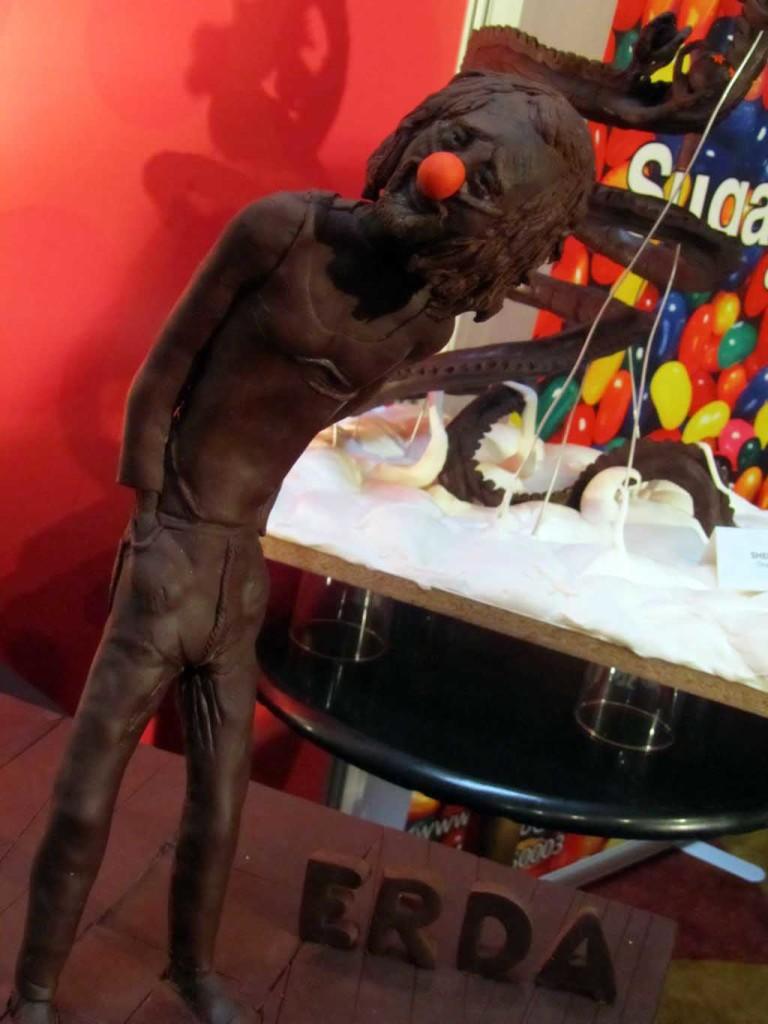 Estatuas de chocolate