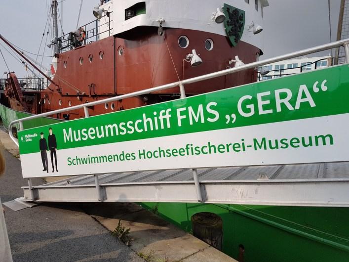 Weg auf das Museumsschiff FMS Gera