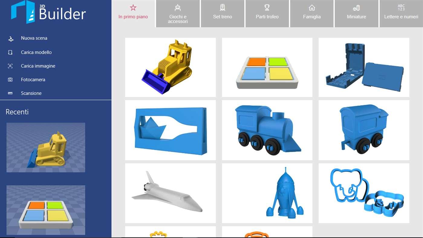3D Builder: l'app per visualizzare. personalizzare e stampare modelli 3D disponibile anche su Smartphone e Xbox