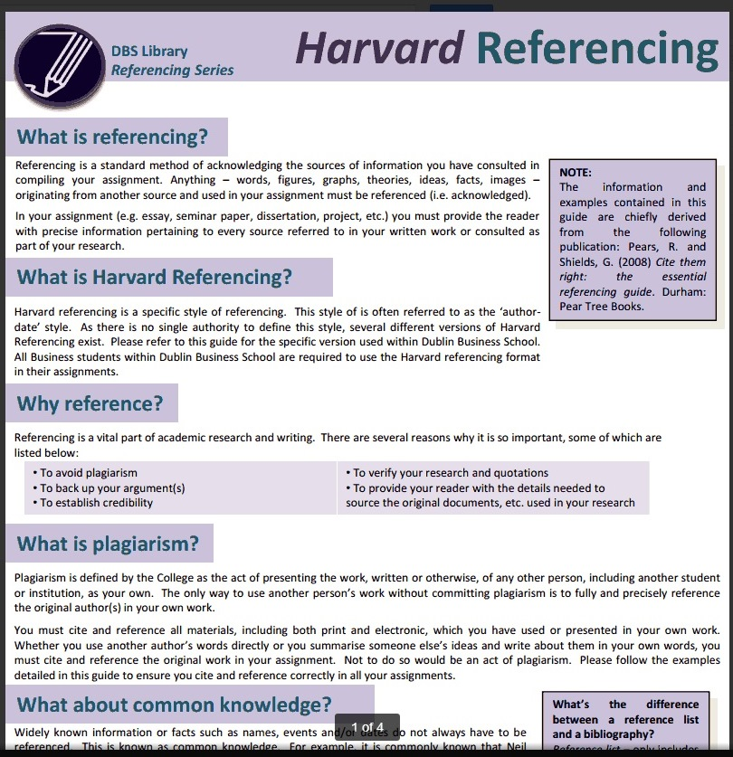 harvard style of writing research paper