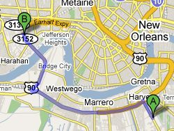 Google Maps of the Drive