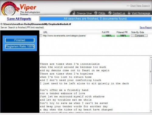Review: Viper Anti-Plagiarism Scanner Image