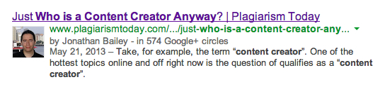 Google Authorship Snapshot