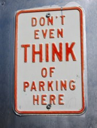 Think of Parking Here