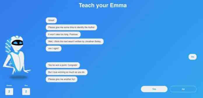 Emma: The Writing Identity and Authorship AI Image