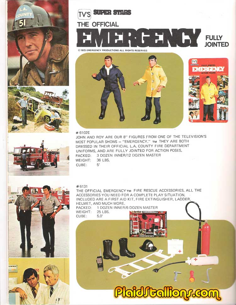 1975 LJN Toys Catalog I Emergency Figures I Mego I