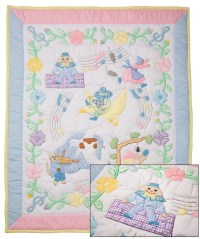 Mother Goose Nursery Rhyme Baby Quilt - Plaid Tidings