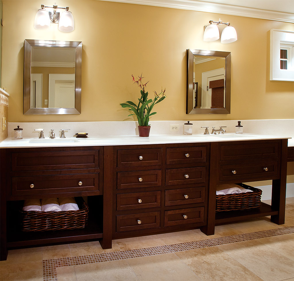 Arts  Crafts Style Bathroom Cabinets Plain  Fancy Cabinetry