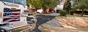 PFPD Fire Truck at Fire