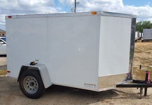 5x8 enclosed trailers - RollingVault V Nose Cargo Trailer