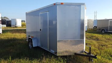 6x12 V Nose Single Axle Diamond Cargo Trailer 1