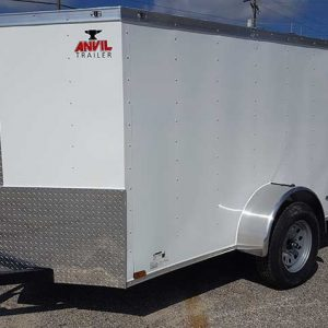 5x10 V Nose Anvil Enclosed Cargo Trailers For Sale