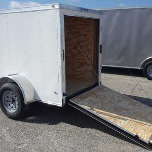 5x8 V Nose Anvil Enclosed Cargo Trailers For Sale