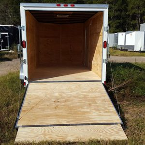 6x10 RollingVault Tandem Axle V Nose Enclosed Cargo Trailers For Sale