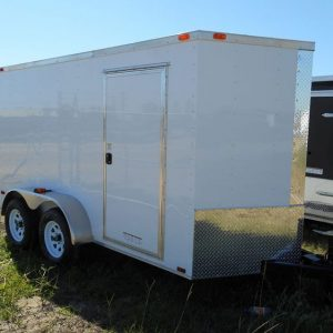 6x12 RollingVault Tandem Axle V Nose Enclosed Cargo Trailers For Sale