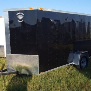 6x12 V Nose Single Axle Diamond Cargo Trailers For Sale