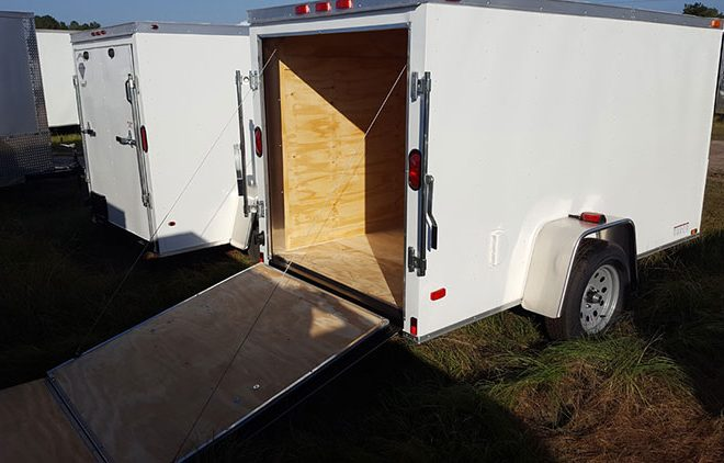 RollingVault V Nose Single Axle 6x8 Enclosed Trailers For Sale