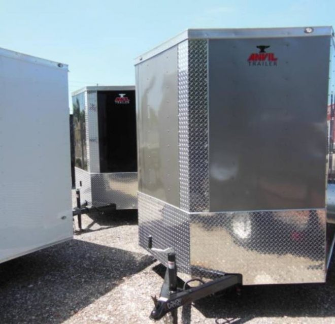 Anvil V Nose 7x14 Single Axle Cargo Trailers For Sale