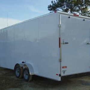 7x16 RollingVault Tandem Axle V Nose Enclosed Cargo Trailers For Sale