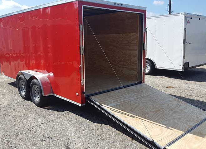 Anvil V Nose Tandem Axle 7x16 Cargo Trailers For Sale