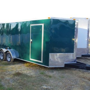 7x18 RollingVault Tandem Axle V Nose Enclosed Cargo Trailers For Sale