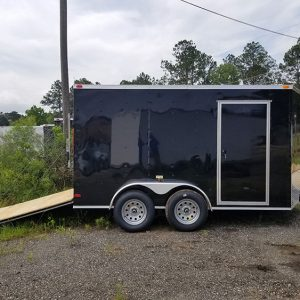 7x20 RollingVault Tandem Axle V Nose Enclosed Cargo Trailers For Sale