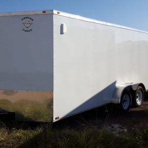 7x22 V Nose Tandem Axle Diamond Cargo Trailers For Sale