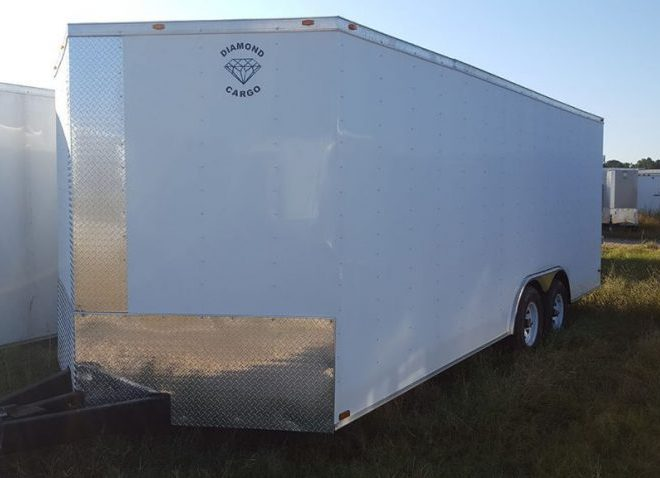 Diamond Cargo V Nose Tandem Axle 8.5x22 Trailers For Sale