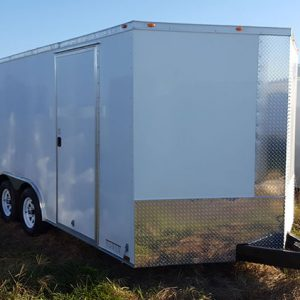 8.5x24 V Nose Tandem Axle Diamond Cargo Trailers For Sale