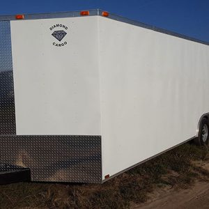 8.5x32 V Nose Tandem Axle Diamond Cargo Trailers For Sale