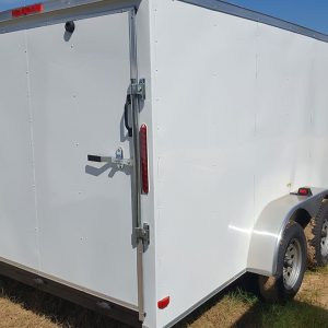 RollingVault V Nose Tandem Axle 7x18 Enclosed Trailer