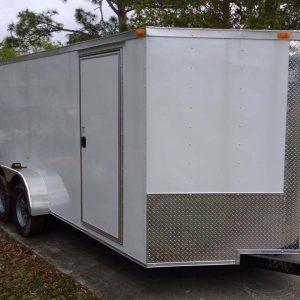 RollingVault V Nose Tandem Axle 7x20 Enclosed Trailer