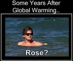 Leonardo DeCaprio in the water