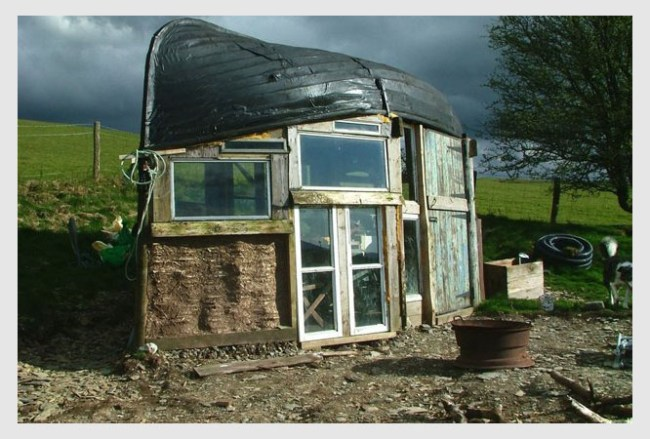 Boat recycled shed