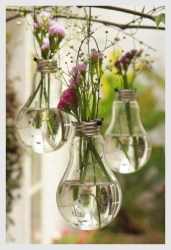 Creative use of recycled lightbulbs