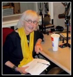 Carolyn Howard-Johnson at KPFK (public radio for Los Angeles and Santa Barbara)