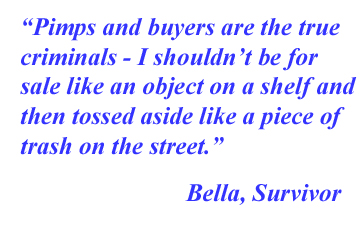 Sex trafficking survivor quote