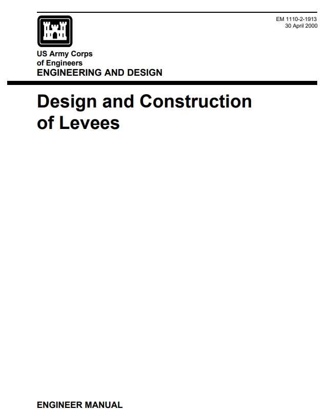 EM-1110-2-1913 Design and Construction of Levees