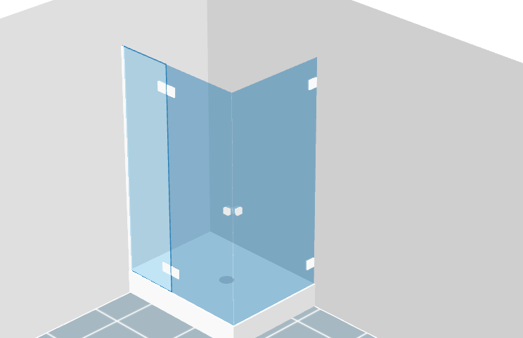 kit parois de douche sur mesure en verre