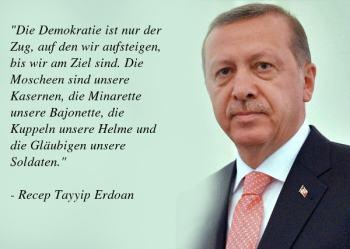 Erdogan Zitate - die politische Haltung des türkischen Präsidenten