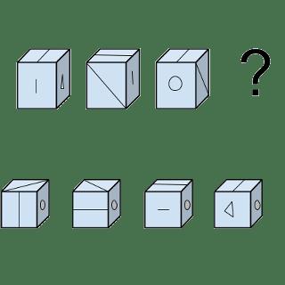 Welcher Würfel passt zur Abbildung oben? (Würfel Nr.10)