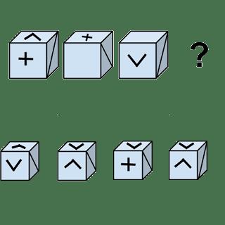 Welcher Würfel passt zur Abbildung oben? (Würfel Nr.6)