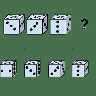 Welcher Würfel passt zur Abbildung oben? (Würfel Nr.7)