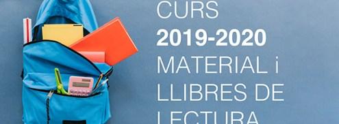 Llibres i material curs 2019-2020