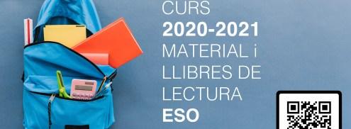 Llibres i material curs 2020-2021