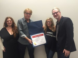L to R- Susan Marshall, Memphis Chapter of The Recording Academy Trustee; Jon Hornyak, Sr. Executive Director, Memphis Chapter of The Recording Academy; Halley Phillips, Board Member, Memphis Chapter of The Recording Academy; Scott Bomar, President, Memphis Chapter of The Recording Academy