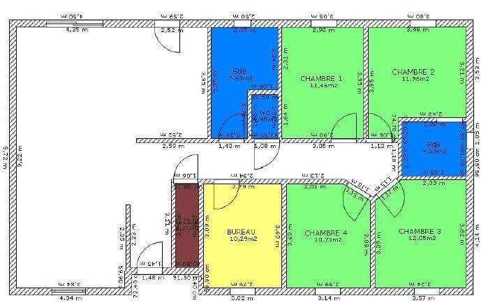 Plan De Maison 4 Chambres Plain Pied Plans Maisons