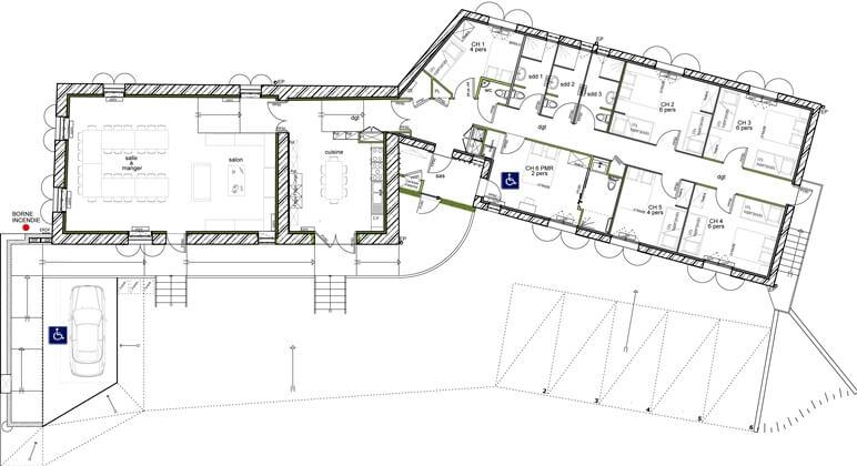 12 Remarkable Beneficial Plan Maison Plain Pied En U 5 Chambres Maison Decor